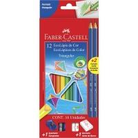 Lápis de cor Ecolápis triangular  Faber Castell 12 cores