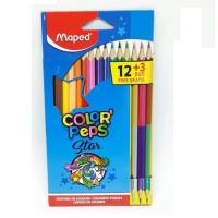 Lápis de cor Color Peps Star Maped 12 Cores