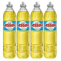 Detergente líquido neutro Assim 500ml (4 unidades)