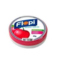Bala de cereja sem adição de açucar Flopi 40g.