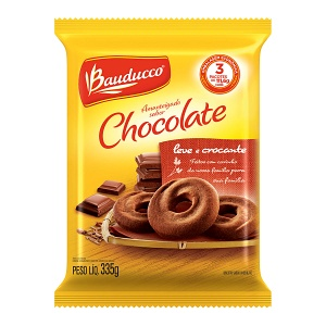 Amanteigado chocolate Bauducco 335g.