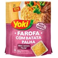 Farofa com batata palha Yoki 200g.