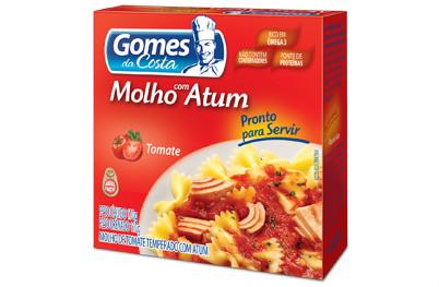 Molho com Atum pronto e pasta de tomate Gomes da Costa 170 gr.