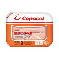 Filé peito de frango congelado bandeja Copacol 1kg.