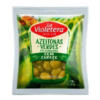 Azeitona verde com caroço sachê La Violetera 200g