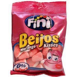 Bala de gelatina Fini Beijos morango 90g.