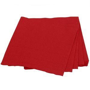 Guardanapo de papel vermelho 20x22 Plac 50x1