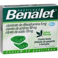 Benalet menta pastilhas (12 unid.)
