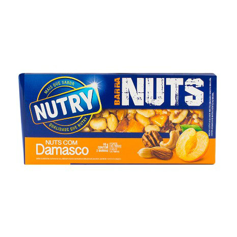 Barra de cereal mix nuts Damasco Nutry 2x30g