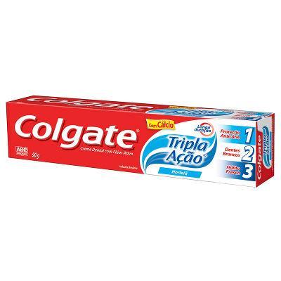 Creme dental Colgate tripla ação hortelã 90g.