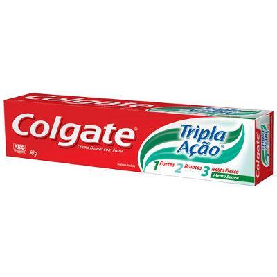 Creme dental Colgate tripla ação menta suave 90g.