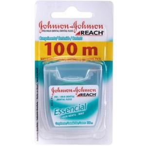 Fio Dental Johnson & Johnson Reach Essencial Menta 100 mts.