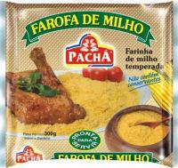 Farofa de milho pronta temperada Pachá 300g.