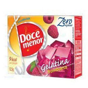Gelatina Doce Menor framboesa zero açucar 12,5g.