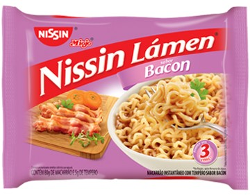Macarrão Instantâneo Nissin sabor Bacon 80 gr