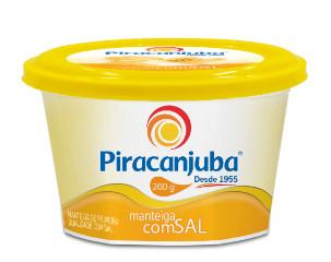 Manteiga com sal Piracanjuba pote 200g.