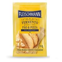 Fermento biológico instantâneo seco Fleischmann 10g.