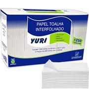Papel toalha interfonado Yuri 1000 folhas