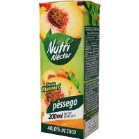 Suco pronto de pêssego Nutri Néctar 200ml.