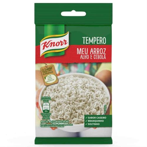 Tempero pronto Meu arroz alho e cebola Knorr sachê 48 gr.