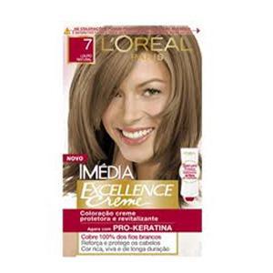 Tinta para cabelo Loreal Imédia louro natural numero 7