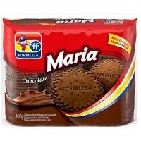 Biscoito Maria sabor Chocolate Fortaleza 400g