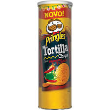 Tortilhas picante Pringles 180g.