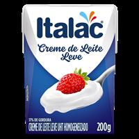 Creme de leite italac 200ml.