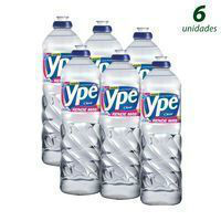 Detergente liquido clear Ypê 500ml.(pacote c/ 6 unid.)