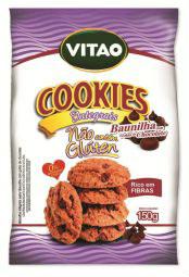 Cookies Integrais Sem Glúten de Baunilha com Gotas de Chocolate Vitao 150g