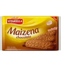 Biscoito Maizena sabor chocolate Vitarella 400g
