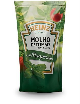 Molho de tomate c/ Manjericão Heinz 340g