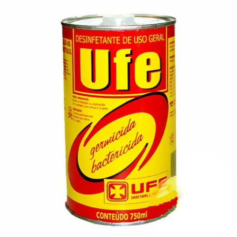 Desinfetante, germicida e bactericida Ufe 750ml