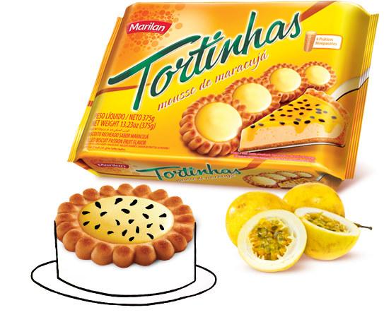 Tortinhas de mousse de maracujá Marilan 169g