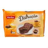 Biscoito distração recheado de baunilha e chocolate Marilan 360g