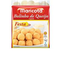 Bolinho de mandioca c/  queijo congelado Maricota 1kg
