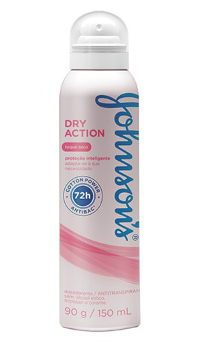 Desodorante aerosol dry action ultra seco 72h Johnson´s 150ml