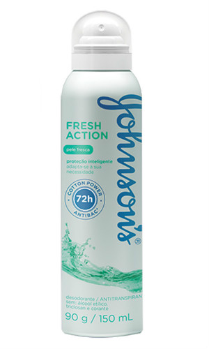 Desodorante aerosol  fresh action pele seca 72h Johnson´s 150ml
