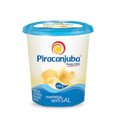 Manteiga sem sal Piracanjuba 500g
