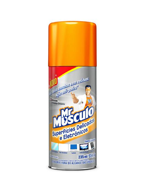 Limpador aerosol de superfícies delicadas e eletrônicas Mr. Músculo 230ml