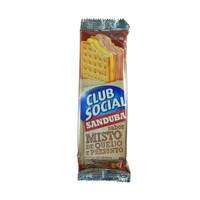 Biscoito club social sanduba recheado misto de queijo e presunto 45g