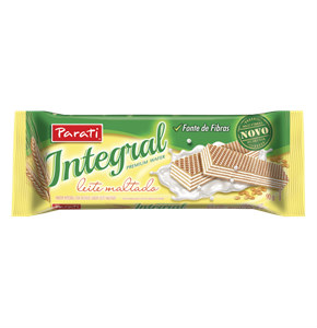 Biscoito wafer integral sabor chocolate maltado Parati 90g
