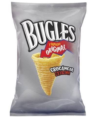 Salgadinhos cone tornado crocante sabor queijo Bugles Yoki 45g