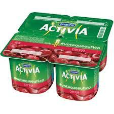 Leite fermentando sabor cereja Activia 400g
