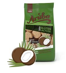 Biscoito de arroz sabor coco sem glúten Aruba 100g