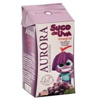 Suco uva especial integral tetra pak Aurora 200ml