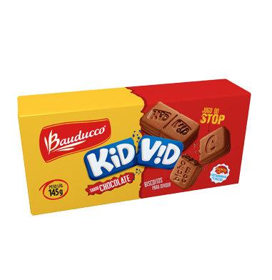 Biscoito recheado c/ chocolate Kid Vid Bauducco 145g