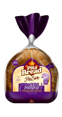Pão Sírio médio integral 320g