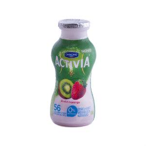 Iogurte sabor morango c/ kiwi zero gordura Activia 180ml
