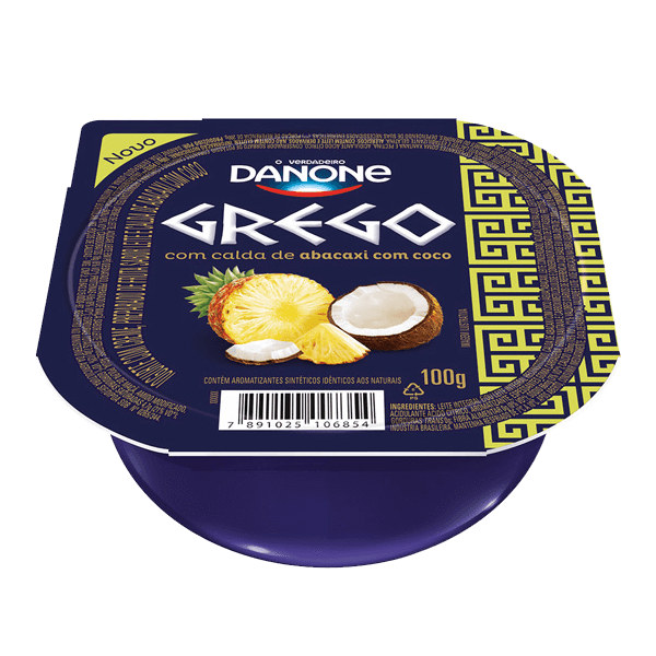 Iogurte Grego c/ calda de abacaxi e coco Danone 100g